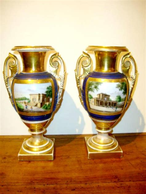 Antique Vases For Sale by Pair Of Antique Berlin Porcelain Vases For Sale