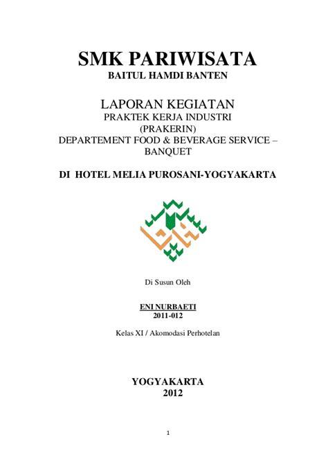 contoh cover laporan pkl laporan prakerin melia purosani yogyakarta eni smk baitul