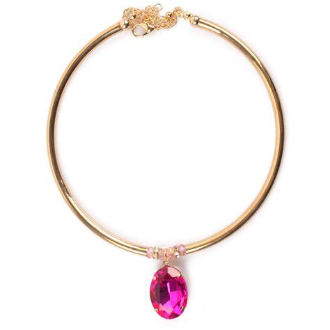 Choker Penta Gold Rings Choker aliexpress buy torques choker necklaces glass gold necklace pendant new