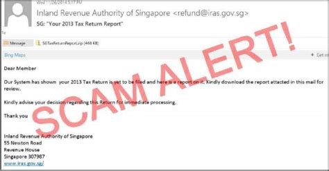 singapore news today beware of iras tax scam email do not fall prey