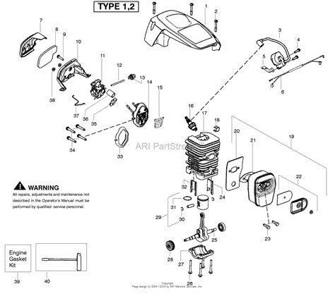 poulan thing chainsaw parts diagram poulan p3816 gas chain saw type 1 parts diagram for engine