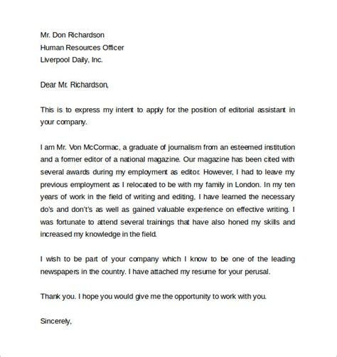 cover letter for employer sle employment cover letter template 8 free