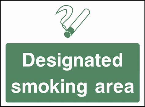 printable area in a4 no smoking signs designated smoking area products