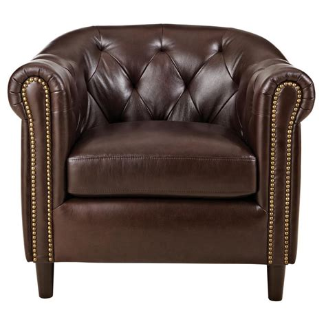 leather club chairs home decorators collection warin chocolate leather club