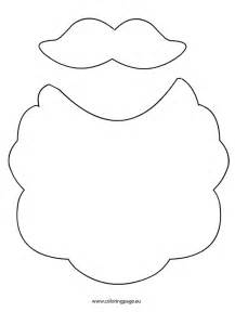 Santa Beard Template by Beard And Mustache Santa Claus Coloring Page