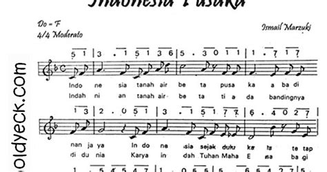 download lagu kau ciptakan lagu indah notasi lirik lagu indonesia pusaka