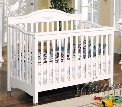 Ikea Baby Cribs Convertible Baby Crib White Finish By Acme Ikea Convertible Crib