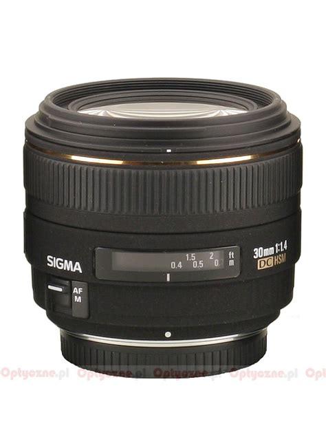 Sigma 30mm F 1 4 Dc Hsm sigma 30 mm f 1 4 ex dc hsm optyczne pl