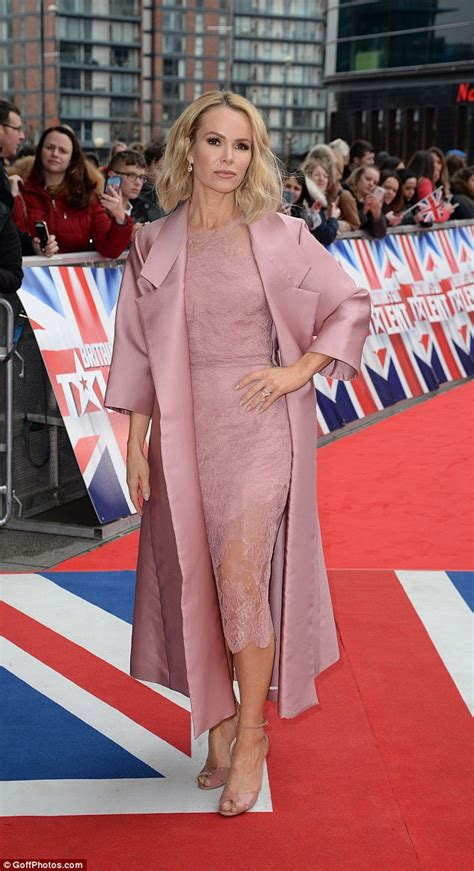 Pink Amanda amanda holden flashes more than expected in tight gown