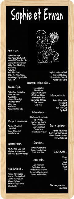 roll up table plans mariage musique
