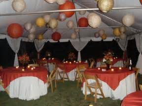 Outdoor wedding reception photo fall wedding reception photo
