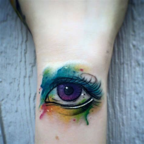watercolor wrist tattoo watercolor eye wrist best design ideas