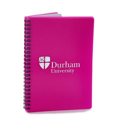Pink Notebook a5 polyprop wiro notebook pink at durham
