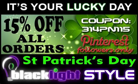 st patricks day freebies 2014 coupon codes sales 153 best images about blacklight party stuff on pinterest
