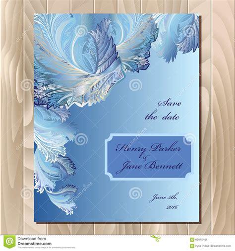 Wedding Winter Background by Winter Frozen Glass Design Wedding Card Vector Background