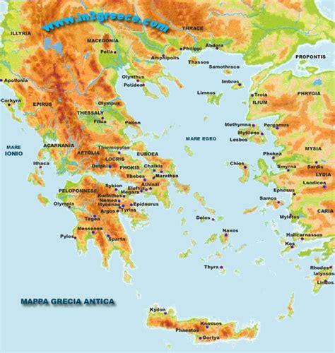 grecia antica grecia mappa fisica