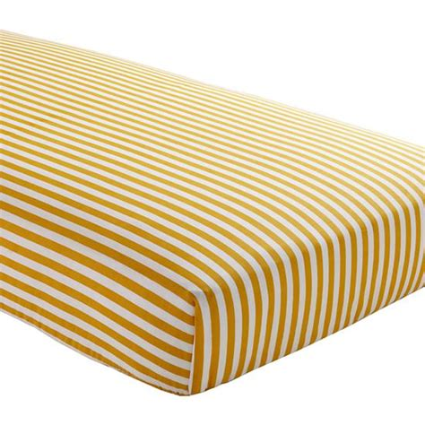Striped Crib Sheets by Baby Sheets Yellow Striped Fitted Crib Sheet The Land