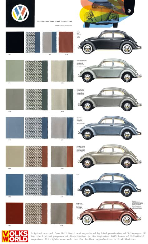 volkswagen beetle colors vw beetle colour charts volksworld