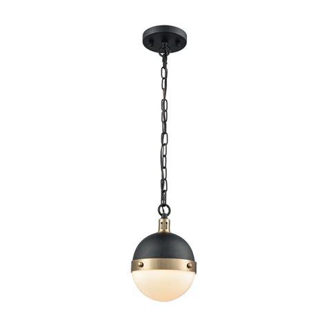black and brass pendant light titan lighting harmelin 1 light matte black and satin