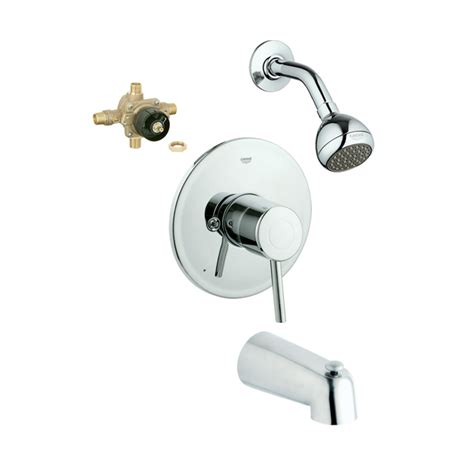 Grohe Shower Faucets by Shop Grohe Concetto Starlight Chrome 1 Handle Bathtub And