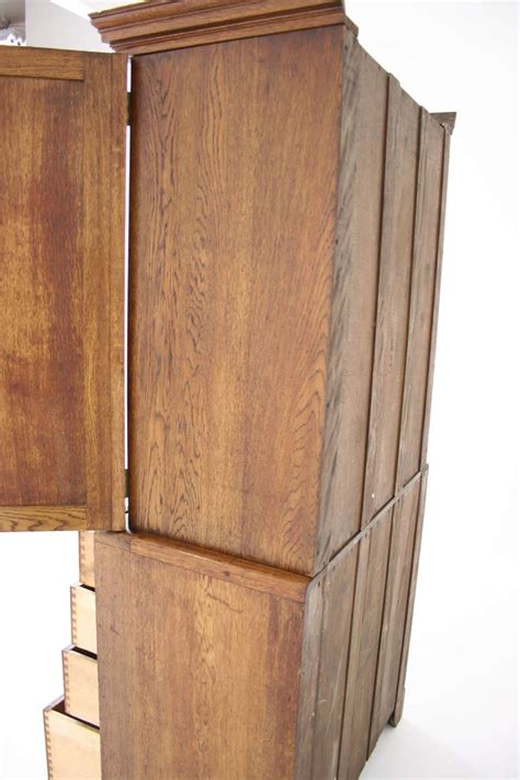 Arts And Crafts Armoire by Scottish Oak Arts And Crafts Linen Press Wardrobe Chest