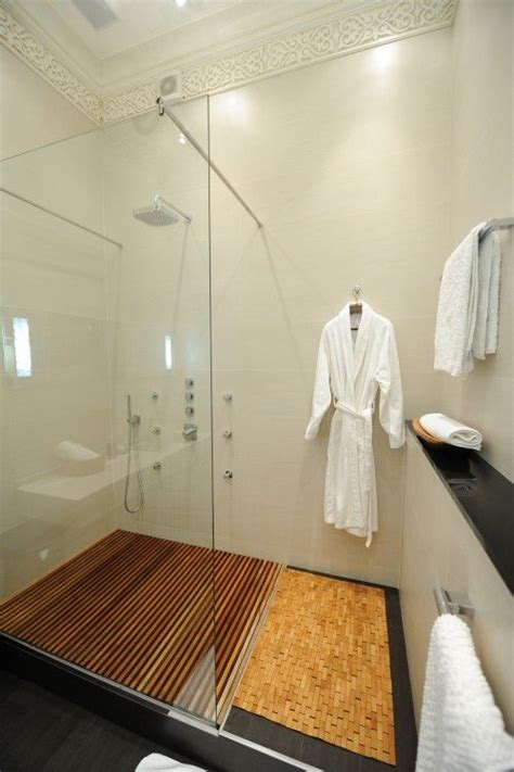 slatted teak modern bathroom flooring ideas love the wood grate shower floor bathroom pinterest