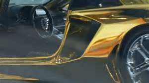 lamborghini gold and diamonds gold lamborghini worth 7 8m in dubai daily mail online