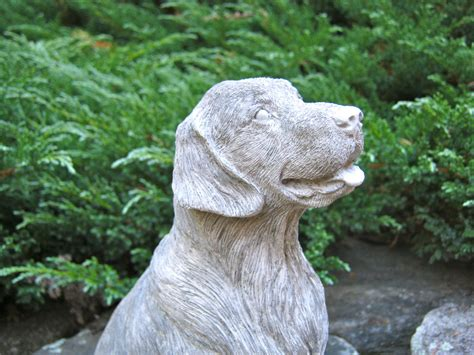 golden retriever statue golden retriever statue concrete cast in cement