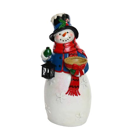 snowman decorations for the home alpine christmas snowman statue with led lights tm zen466s tm the home depot