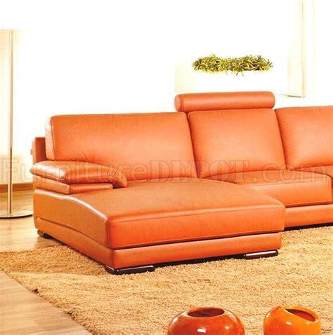 orange leather sectional sofa full italian top grain leather modern sectional sofa 2227
