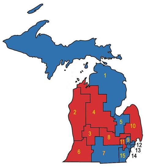 political map of michigan redistricting in michigan new political maps from the
