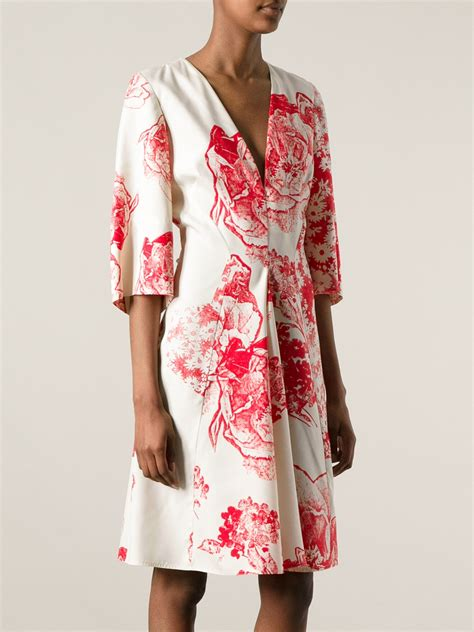 New Givenchy 1398 Bahan Croco Print Flower lyst stella mccartney floral print kimono sleeve dress in