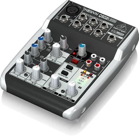Sound Card Usb Behringer q502usb analog mixers mixers behringer categories