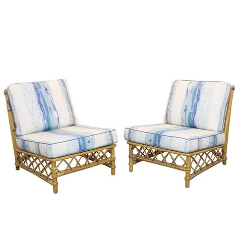 Ficks Reed Chair by Pair Of Rattan Lounge Slipper Chairs By Ficks Reed At 1stdibs