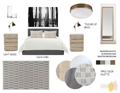 Calm Color Palette by In The Mood Modern Rustic Scandinavian Bedroom
