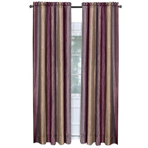 home depot curtain panels achim aubergine ombre curtain panel 50 in w x 84 in l