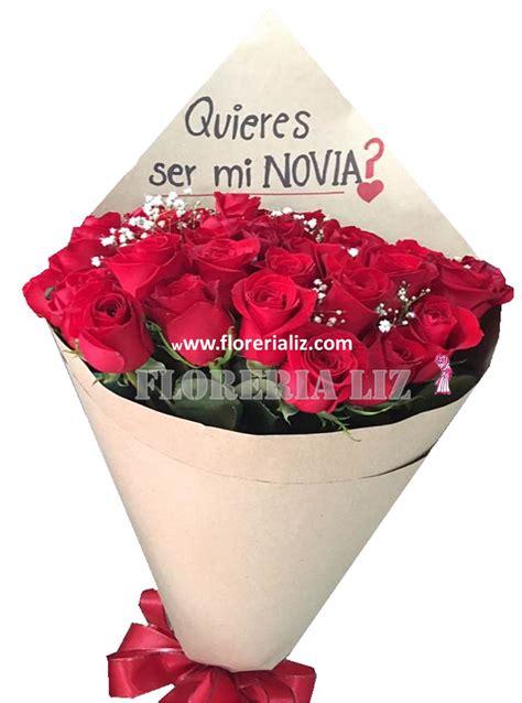 imagenes de quieres ser mi novia con rosas bouquet en papel kraft