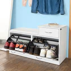 sobuy 174 shoe cabinet shoe storage bench with padded seat