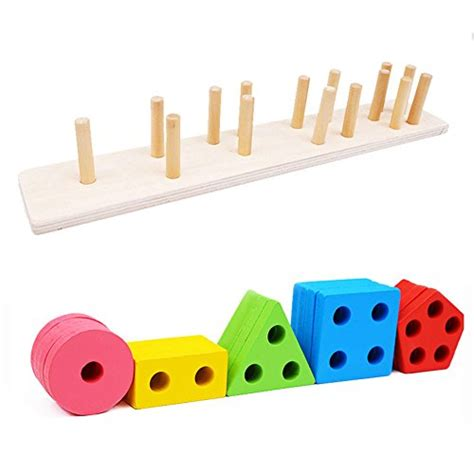 Chunky Puzzle Shape toyssa wooden educational toys shapes sorter chunky puzzle