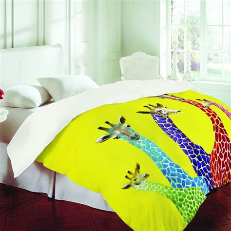 Neon Comforter by Clara Nilles Jellybean Giraffes Duvet Cover Around The