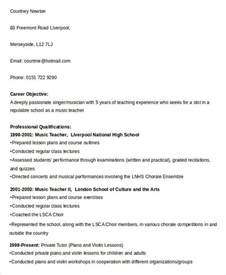 Music Teacher Resume Sample Free Teacher Resume 43 Free Word Pdf Documents