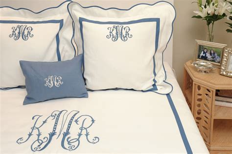 monogrammed coverlet monograms add the personal touch in your home