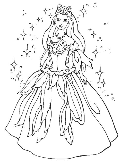 coloring pages of princess barbie princess dress coloring pages princess barbie coloring