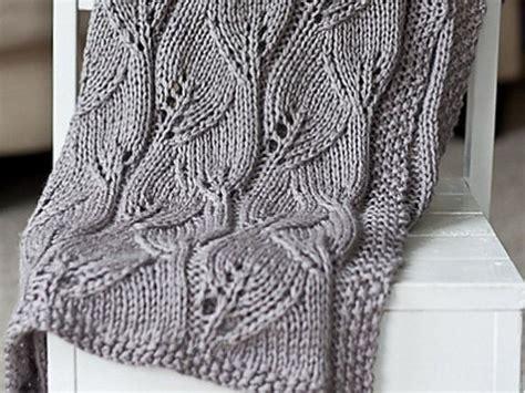 leaf pattern knitted blanket baby blanket knit leaf blanket