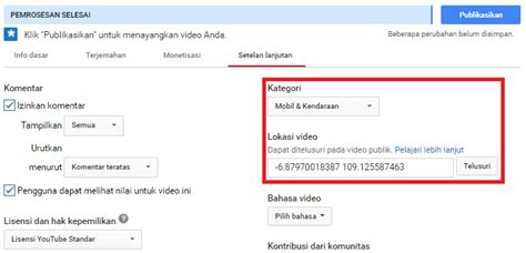membuat youtube adsense cara membuat channel youtube luar negeri target negara