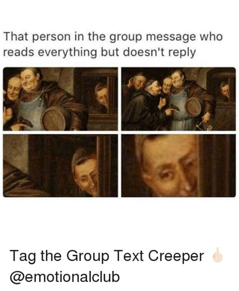 Group Message Meme - 25 best memes about creeper creeper memes