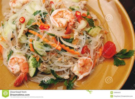 Thai Kitchen Sweet Red Chili - thai spicy seafood salad stock images image 10684404
