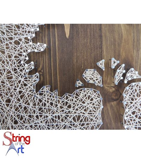 Tree String Pattern - inverse oak tree string kit diy string string