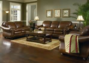 brown decor living room decorating ideas with brown leather furniture
