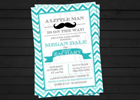 mustache baby shower invitation templates theruntime com